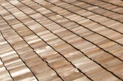 Wood shingles.